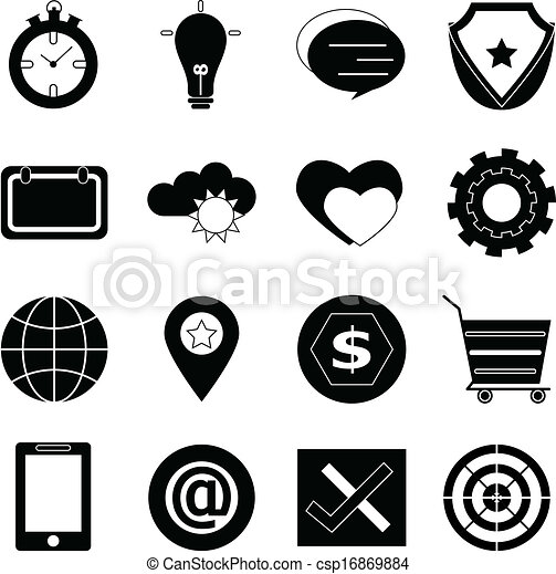 General icons on white background - csp16869884