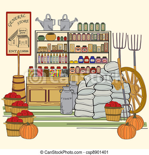 General store. General store illustration vector eps10.