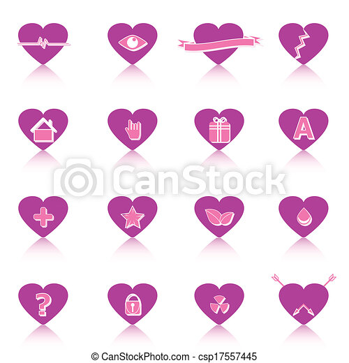 General symbol in heart shape on white background - csp17557445