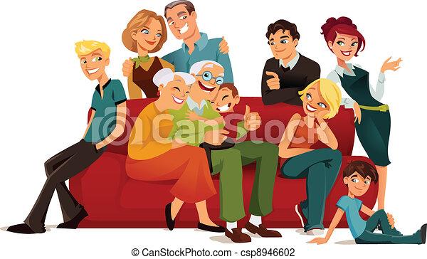 generatie, multi, gezin - csp8946602