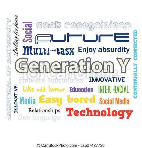 Generation Y infographics - csp27427736
