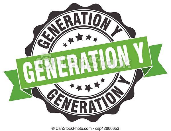 generation y stamp. sign. seal - csp42880653