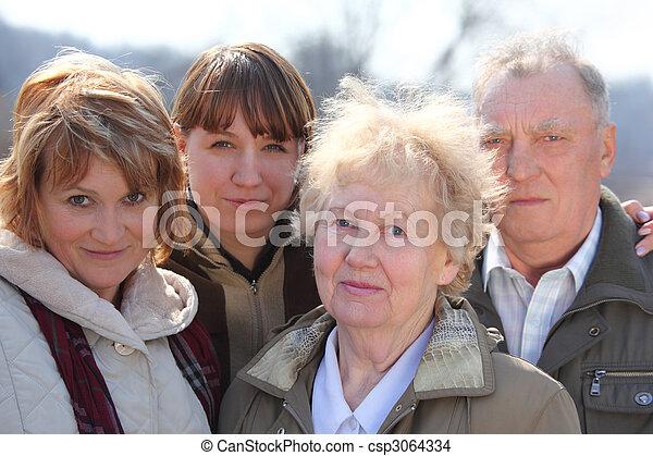 generationen, drei, familie, eins - csp3064334
