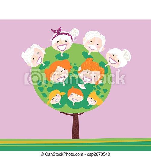 generazione, albero, triplo, famiglia - csp2670540