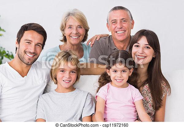 generazione, famiglia, tre - csp11972160