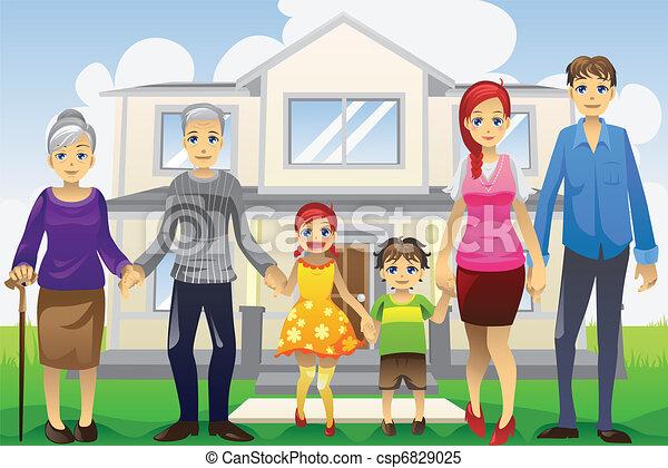 generazione, multi, famiglia - csp6829025