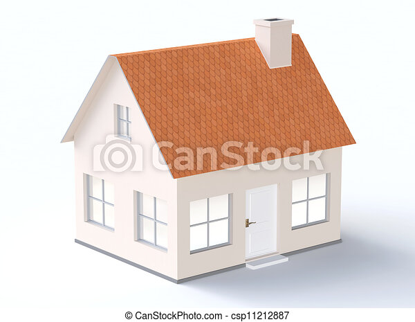 Lovely Generic House Model With Sloping Roof   Csp11212887