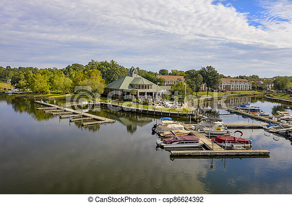 Generic View Of A Local Lake On An Autumn Day - csp86624392