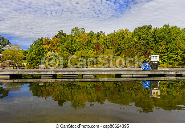 Generic View Of A Local Lake On An Autumn Day - csp86624395