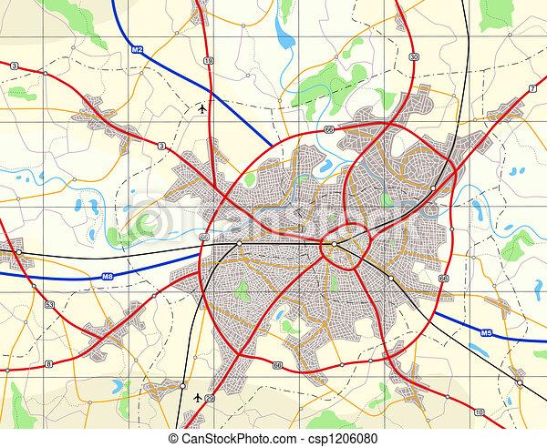 Generische Stadtkarte - csp1206080