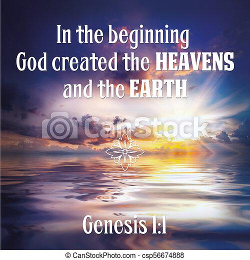 Genesis 1:1 Bible Verse