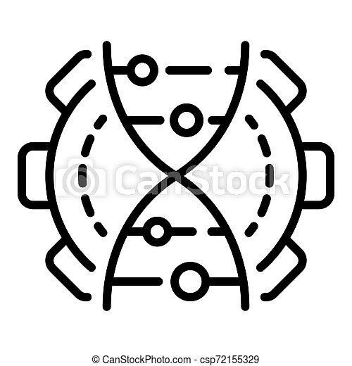 Genetic engineering icon, outline style - csp72155329