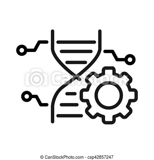genetic engineering illustration design - csp42857247