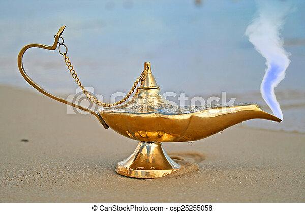 genies, lampe, rivage - csp25255058