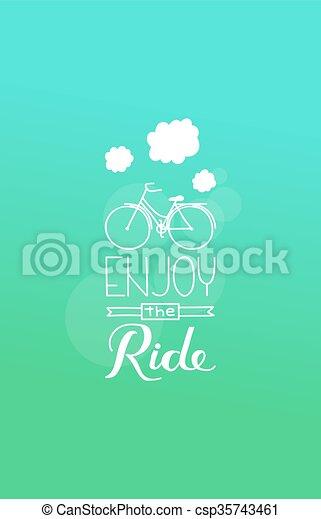 genieten, ride.eps - csp35743461