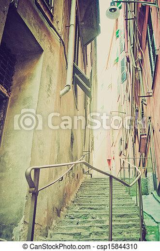 Genoa Caruggio retro look - csp15844310