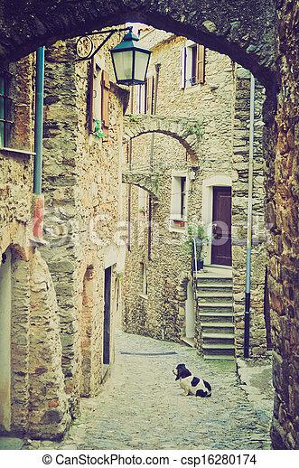 Genoa Caruggio retro look - csp16280174