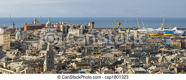Genoa, old town - csp1801323