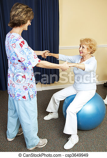 genomkörare, terapi, fysisk - csp3649949