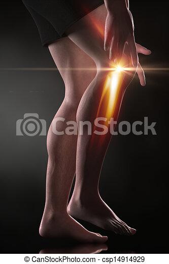 genou, concept, douleur, homme - csp14914929