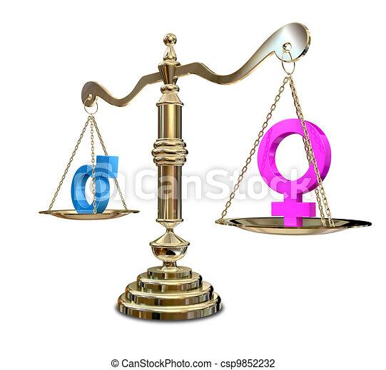 genre, inégalité, équilibrage, échelle - csp9852232