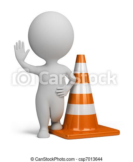 gens, -, cône trafic, petit, 3d - csp7013644