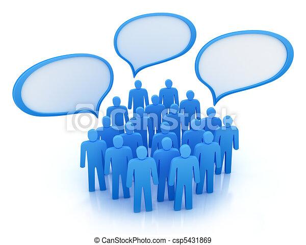 gens, différent, isolé, vues - csp5431869