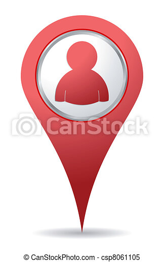 gens, emplacement, icône - csp8061105