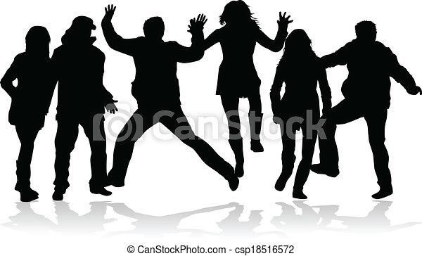 gens, fête, danse - csp18516572