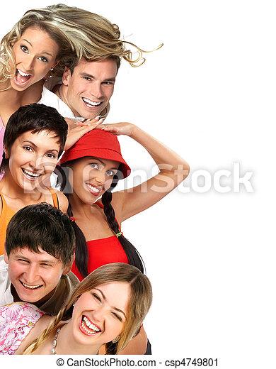 gens, heureux - csp4749801