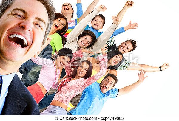 gens, heureux - csp4749805