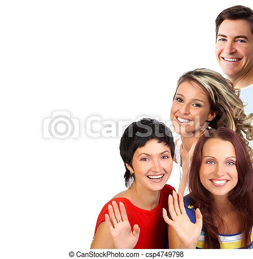 gens, heureux - csp4749798