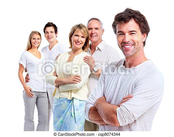 gens., heureux - csp8074344