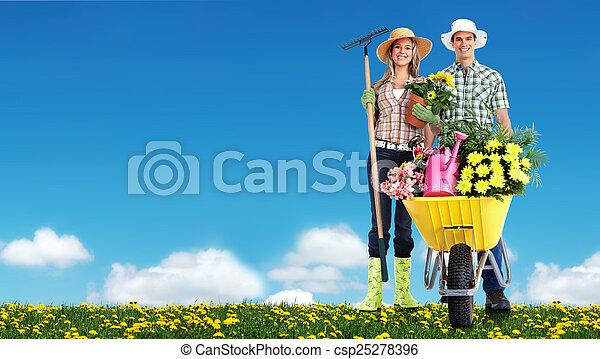 gens., jardinage - csp25278396