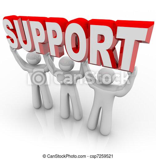 gens, soutien, temps, fardeau, ton, levage, difficile - csp7259521