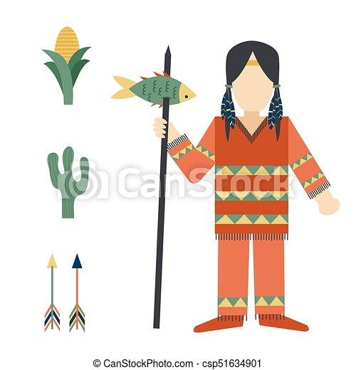 gens, vendange, indiens, ornement, illustration, élément, vecteur, retro, ethnique, hindouisme, outils, temple, icône - csp51634901