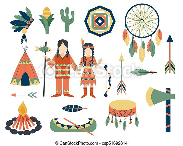 gens, vendange, indiens, ornement, illustration, élément, vecteur, retro, ethnique, hindouisme, outils, temple, icône - csp51692814
