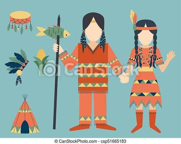 gens, vendange, indiens, ornement, illustration, élément, vecteur, retro, ethnique, hindouisme, outils, temple, icône - csp51665183