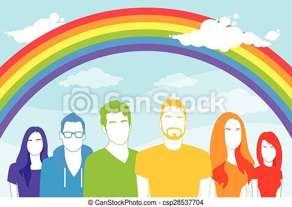 El mismo grupo de gente gay y lesbiana - csp28537704