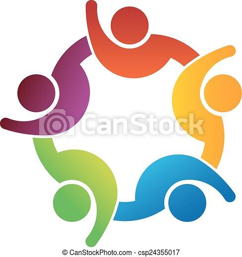 Gente con la mano en alto - csp24355017