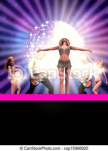 Bailando 3D personas - csp15966920