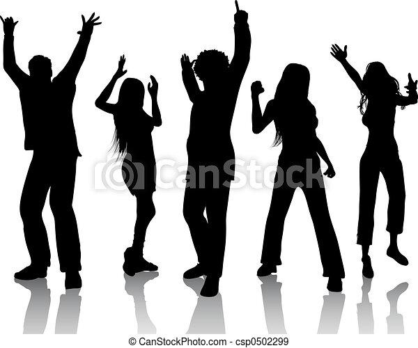 Gente bailando - csp0502299