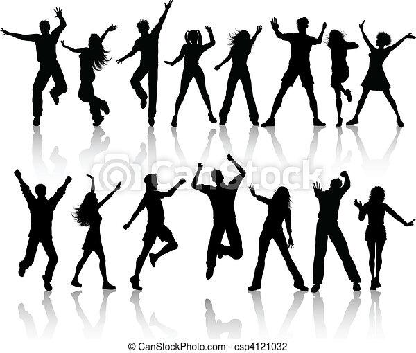 Gente bailando - csp4121032