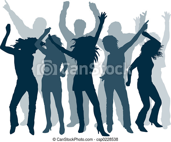 Gente bailando - csp0228538