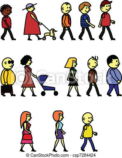 La gente camina - csp7284424