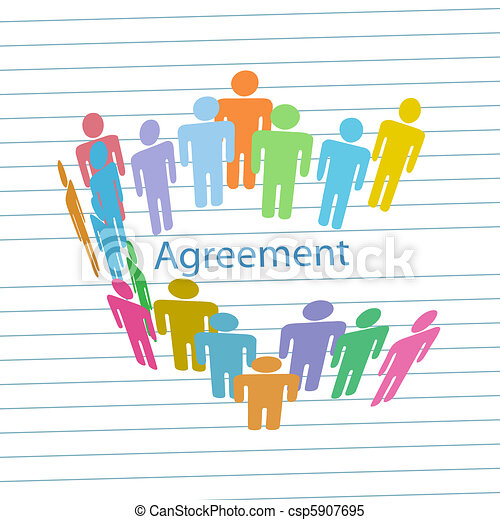 La gente de la compañía cumple el contrato del acuerdo - csp5907695