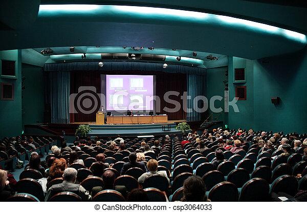 Gente en conferencia - csp3064033
