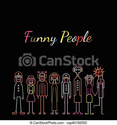 Gente divertida - csp40192050