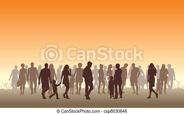 Gente en el horizonte - csp8030646
