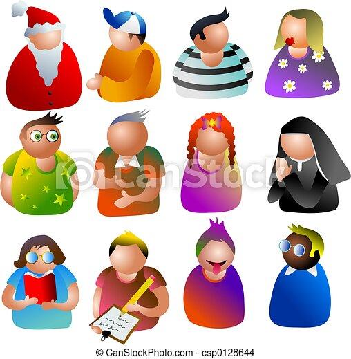 iconos de la gente - csp0128644